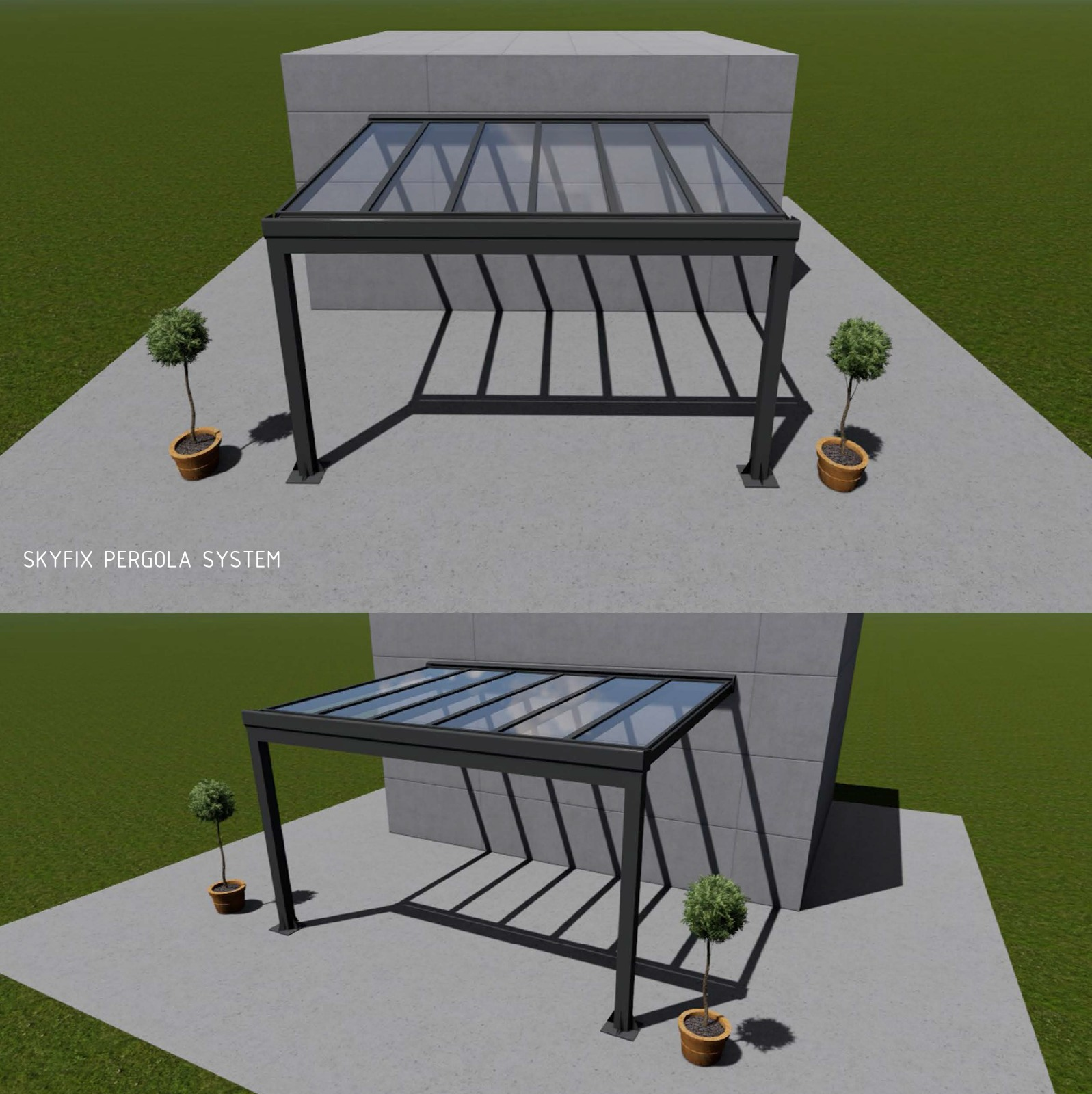 Glass Winter Garden Structures Outdoor Heating Parasols External Venetian Retractable Motorised Roof Pergola Awning London Commercial Architecture Outdoor